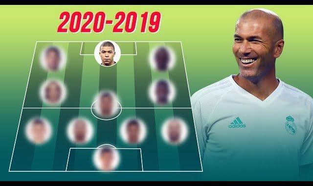 التشكيلة التي يحلم بها زيدان لمشروعه الجديد في ريال مدريد لموسم 2019-2020