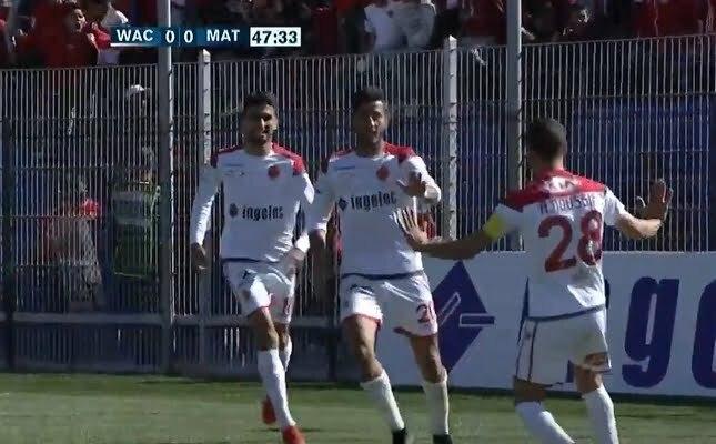 هدف الوداد الرياضي الأول في مرمى المغرب التطواني