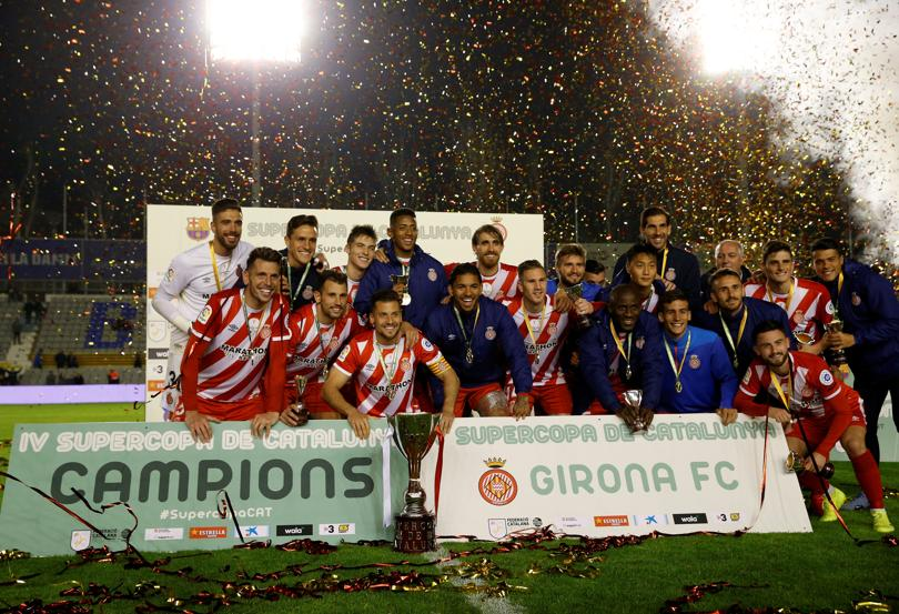 جيرونا يهزم برشلونة ويتوج بلقب كأس السوبر الكتالوني