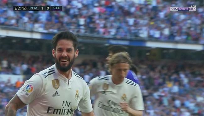هدف ريال مدريد الأول في مرمى سيلتا فيغو