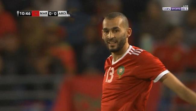 خالد بوطيب كاد ان يسجل هدف اول للمغرب في مرمي الارجنتين