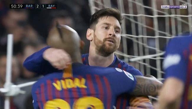 هدف ميسي في مرمي رايو فاليكانو (2-1) الدوري الاسباني