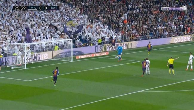 هدف مباراة برشلونة وريال مدريد 1-0 الدوي الاسباني
