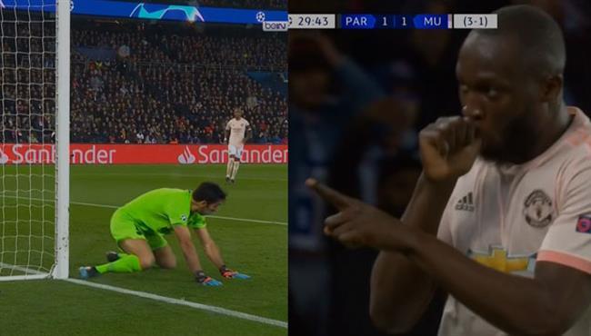 بعد خطأ من بوفون هدف لوكاكو الثاني في مرمي باريس سان جيرمان