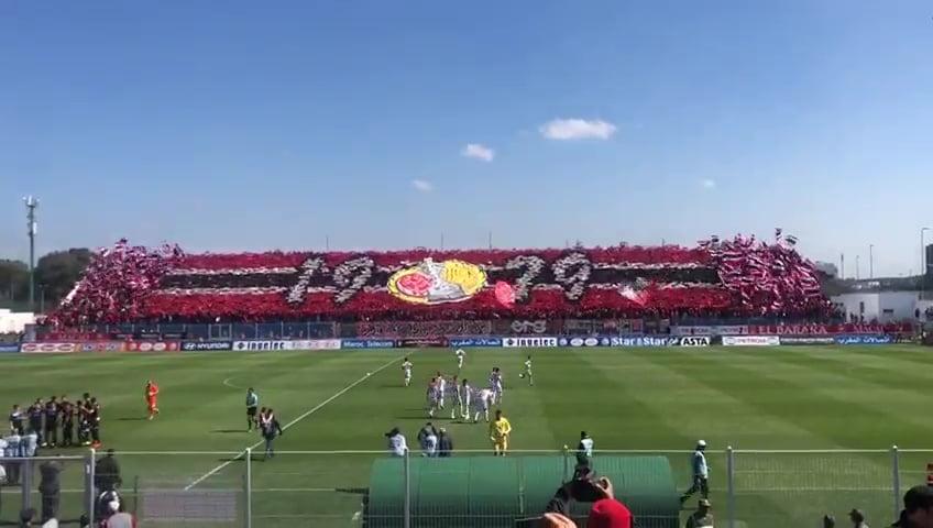 تيفو الجماهير الودادية اليوم في مباراة المغرب التطواني