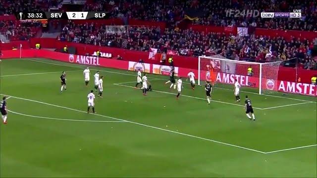 فيديو: هدف كوميدي يهز شباك إشبيلية في الدوري الأوروبي