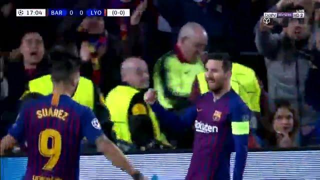 فيديو: هدف ميسي الأول لبرشلونة في مرمى ليون