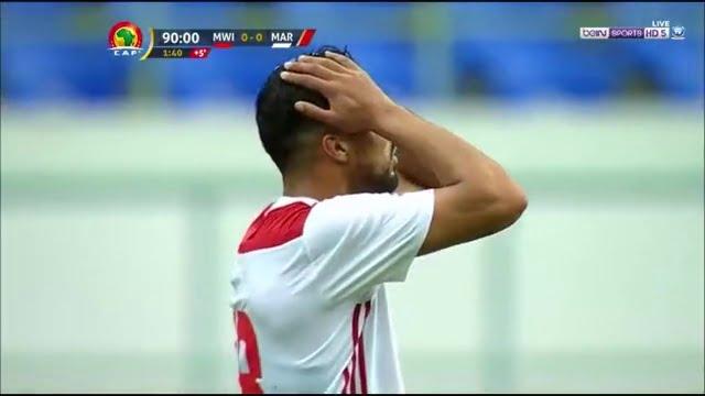 العارضة تحرم من جديد رشيد عليوي من تسجيل هدفه الأول أمام مالاوي