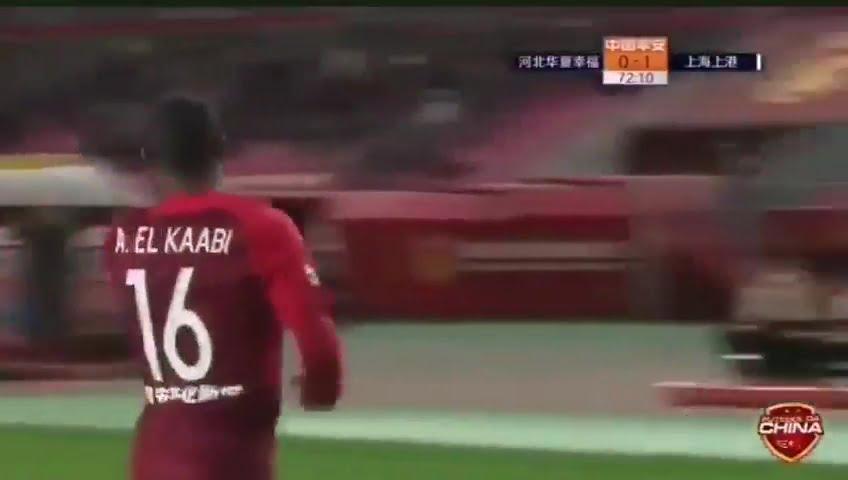 هدف أيوب الكعبي في شباك فريق شنغهاي