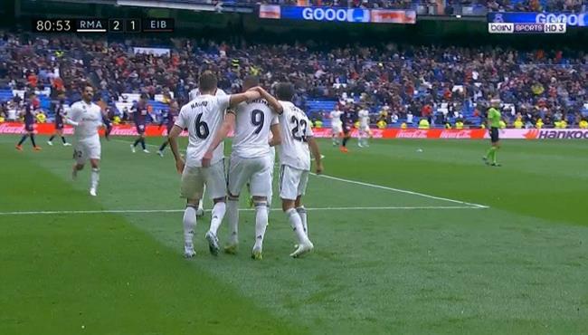 اهداف مباراة ريال مدريد وايبار (2-1) الدوري الاسباني