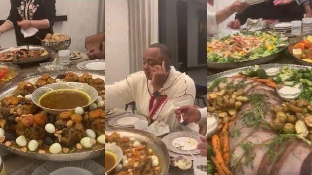 شوفو كيفاش كيفطر رئيس الوداد سعيد الناصري مع صحابو فرمضان