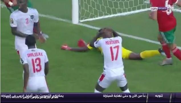 هدف المنتخب المغربي الاول في مرمى ناميبيا