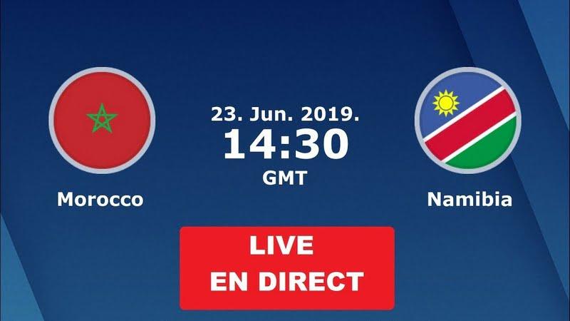 مشاهدة مباراة المغرب ونامبيا بث مباشر 23-06-2019 كاس افريقيا