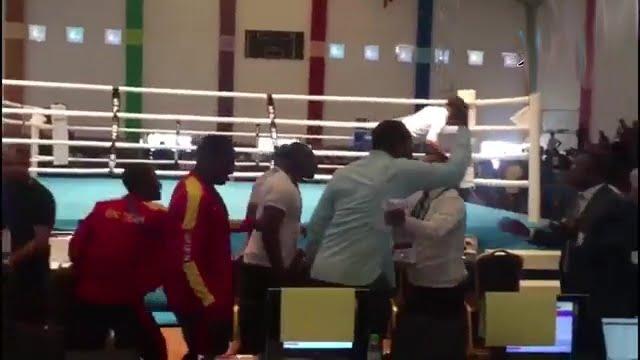 بالفيديو.. اعتداء بالضرب على منتخب مصر للملاكمة في الرباط