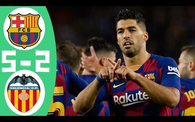 اهداف مباراة برشلونة وفالنسيا