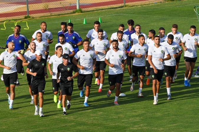 المنتخب الوطني يخوض آخر حصة تدريبية قبل لقاء بوركينافاسو