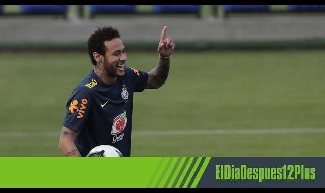 هدف رائع من نيمار فى تدريب منتخب البرازيل