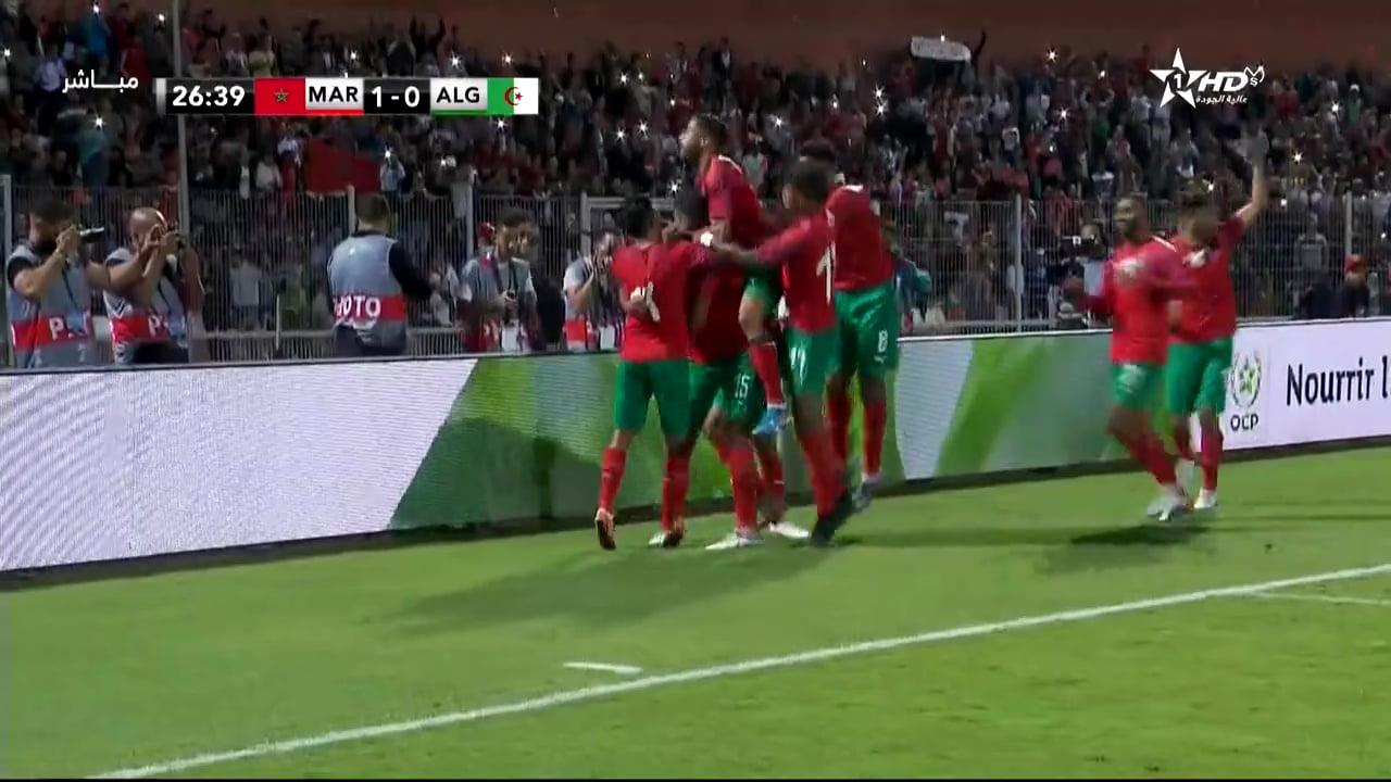 اهداف مباراة المغرب والجزائر
