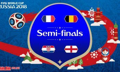 موعد مباريات دور النصف نهائي كأس العالم روسيا 2018 بتوقيت غرينتش