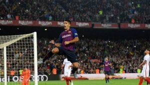 الدوري الاسباني : برشلونة يتنزع الصدارة برباعية في اشبيلية